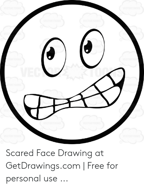 Scared Face Drawing At Getdrawingscom Free For Personal Use Free Meme On Me Me