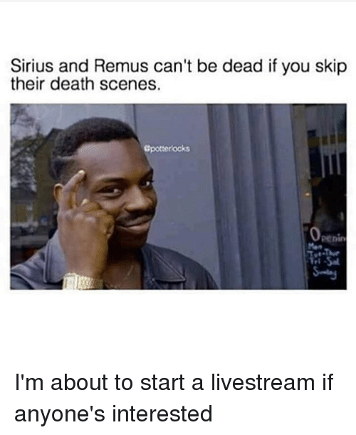 Sirius And Remus Can T Be Dead If You Skip Their Death Scenes