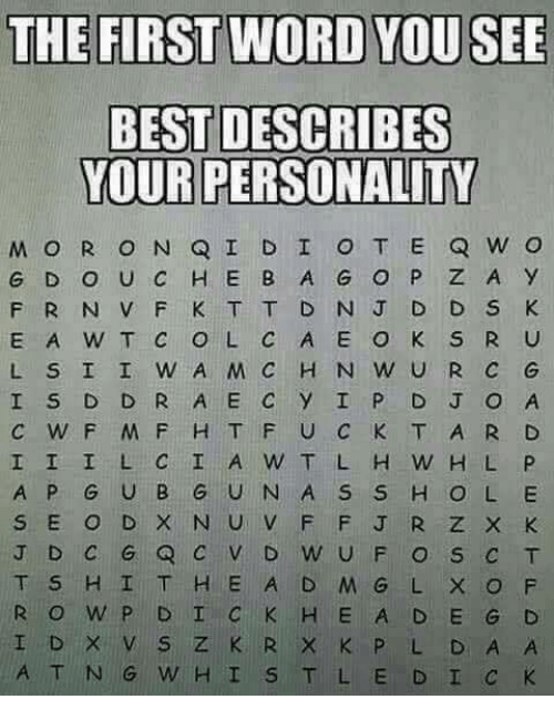 Comment The First Hidden Word You See Meme Ahseeit
