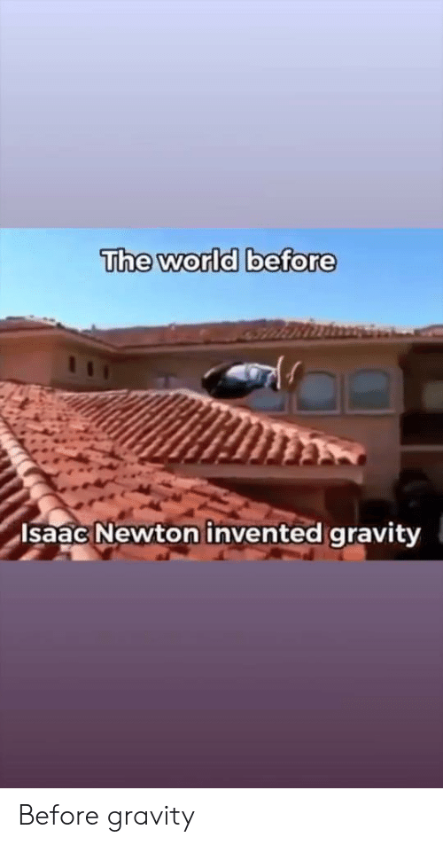 The World Before Isaac Newton Invented Gravity Before Gravity