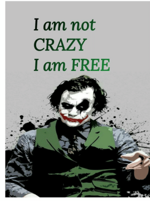 I Am Not CRAZY I Am FREE Jokes Mad Haterade Meme | Wwwmiifotoscom ...