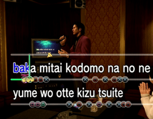 Karaoke Lyrics In The Yakuza Games Are Also Displayed On The Tv In