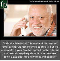Sources Mentioned At Factpointnet Fp Hide The Pain Harold Is Aware