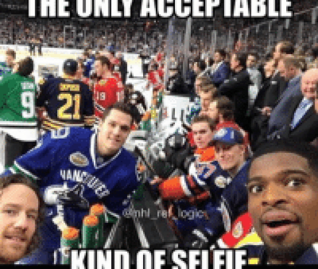 The Only Acceptable Dipos Opus  Nand Kind Of Selfie   E Bd C Can You Name The Players On The End Of The Bench It Might Be Hard To Tell  F F   Nhl Hockey