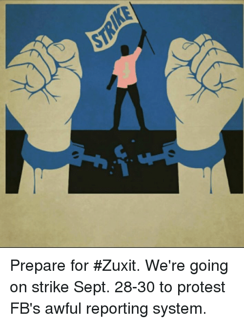 W 7 Prepare For Zuxit We Re Going On Strike Sept 28 30 To Protest