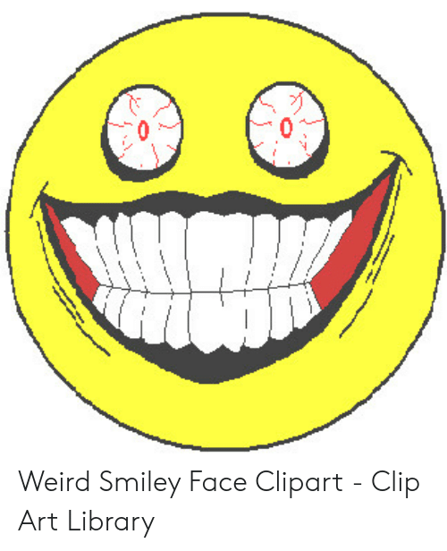 Weird Smiley Face Clipart Clip Art Library Weird Meme On Me Me