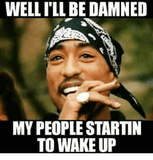 Well I Ll Be Damned My People Starti To Wake Up Meme On Me Me