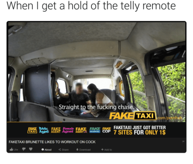 Funny Add And Cops When Get A Hold Of The Telly Remote Straight