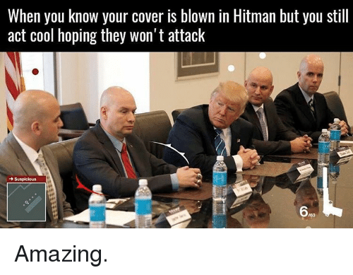 When You Know Your Cover Is Blown in Hitman but You Still ...