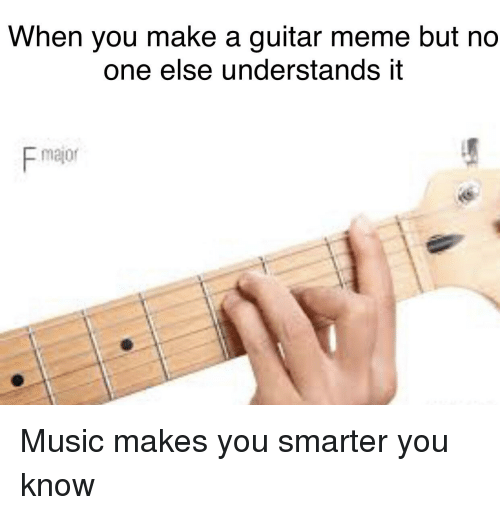 When You Make A Guitar Meme But Ndo One Else Understands It F