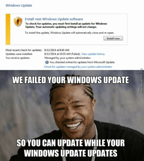 Windows Update Install New Windows Update Software To Check For
