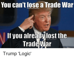 You Can't Lose a Trade War meme