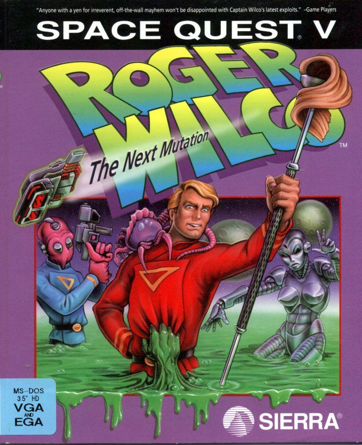 Space Quest V: The Next Mutation DOS Front Cover