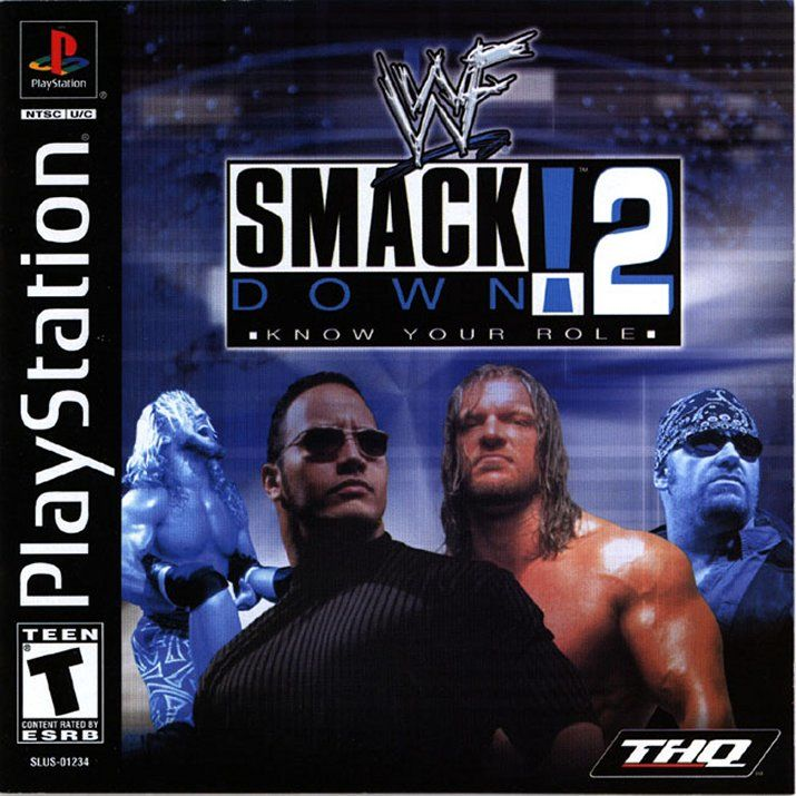 WWF Smackdown 2 Know Your Role 2000 PlayStation Box
