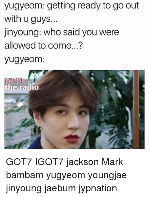Jinyoung What Are U Doing Yugyeom Getting Ready To Go Out With U