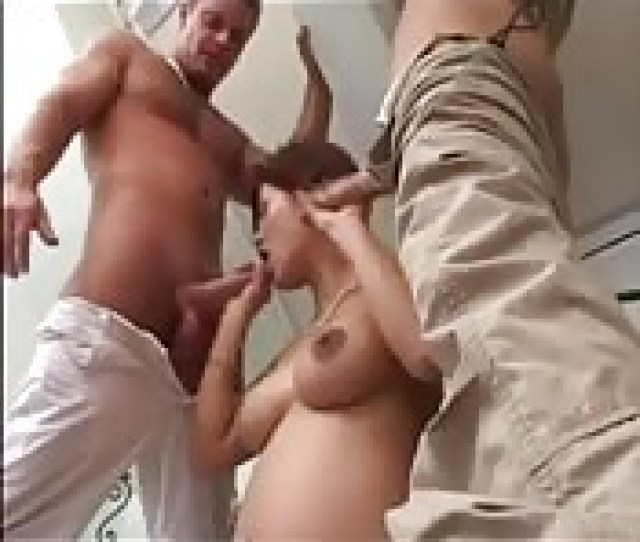 Horny Pregnant Woman Fucked By Two Guys