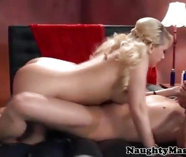 Hot Blonde Oil Sex