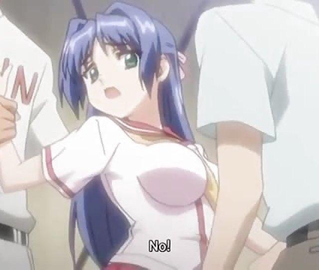 Blue Haired Big Boobed Anime Slut Gets Nailed