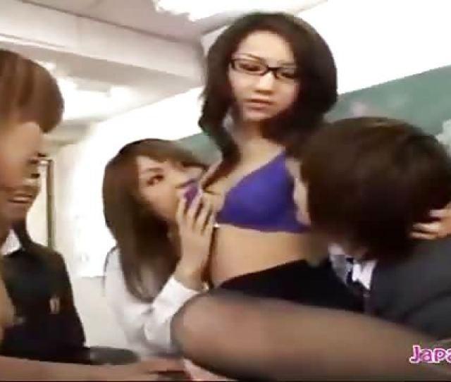 Asian Lesbian Gangbang