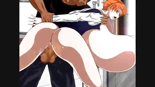Red Haired Hentai Girl With Massive Tits Gets Fucked After She Sucks