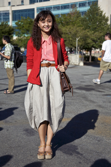Connie Wang At Alex Wang Sep 2010 Street Fashion