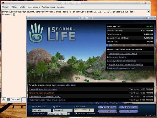 Second Life en Linux