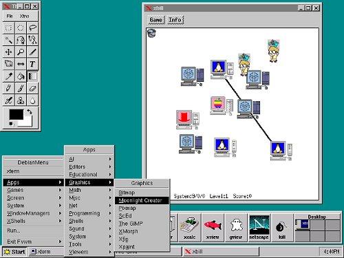 Debian con FVWM en el año 2000