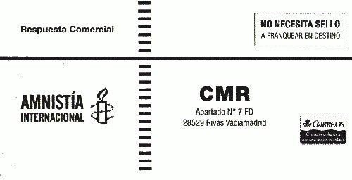 Envío de móviles usados a amnistía internacional España