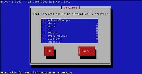 ntsysv en Fedora 14