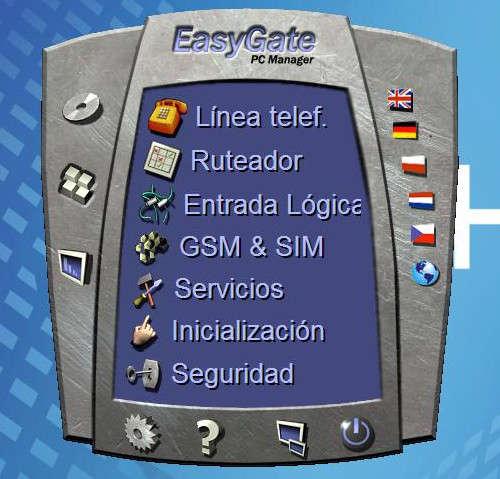 menú principal del PCManager para EasyGate 2n