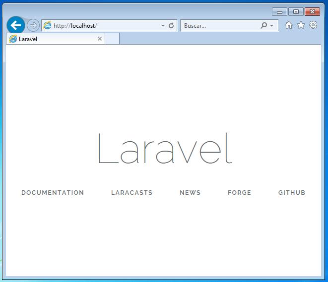 Laravel 5.6 en windows con Xampp