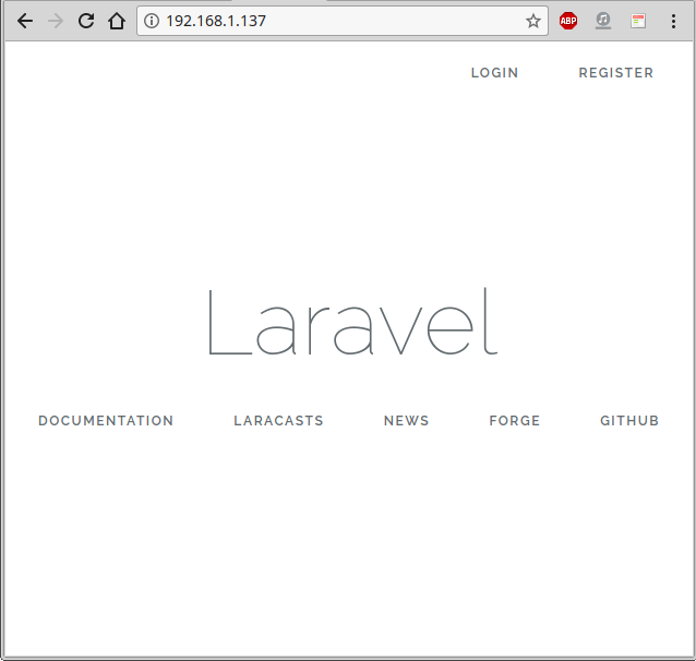 Laravel 5.6 con la funcionalidad de login y registro