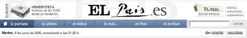 Cabecera de El País