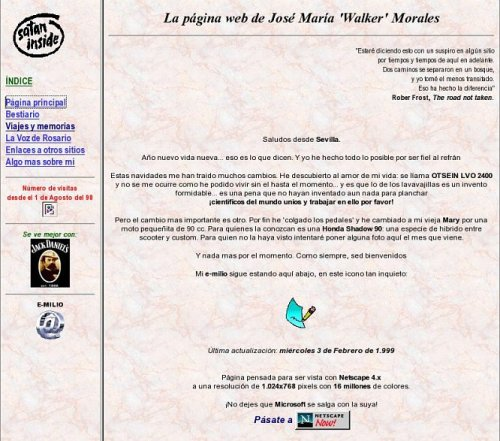 La web de walker en geocities