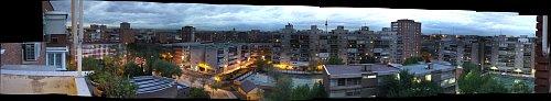 Panorámica de Moratalaz desde mi terraza