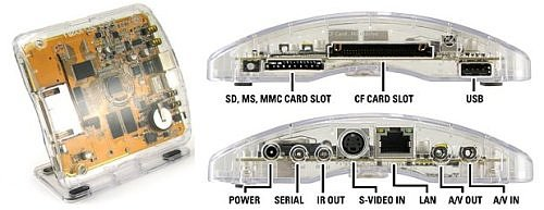 Neuros OSD. Aspecto y descripción de puertos