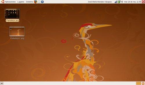 El AspireOne con Ubuntu Netbook Remix y escritorio convencional