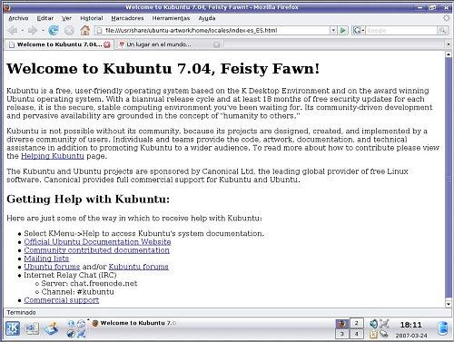 Pantallazo de la nueva beta de kubuntu
