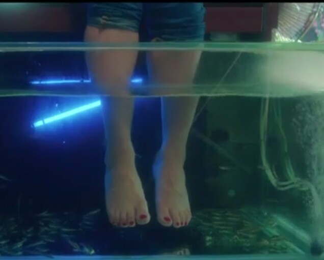 ممثلة تلقي بنفسها تحت أقدام كيم كاردشيان