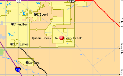 Map Of Arizona Showing Queen Creek.Queen Creek Zip Codes Map Hot Trending Now