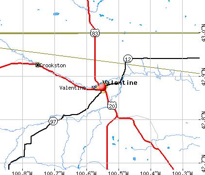 Valentine Nebraska NE 69201 Profile Population Maps
