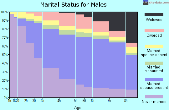 Chicago marital status for males