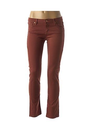 des petits hauts pantalon casual de couleur marron en soldes pas cher 1490762 marron modz