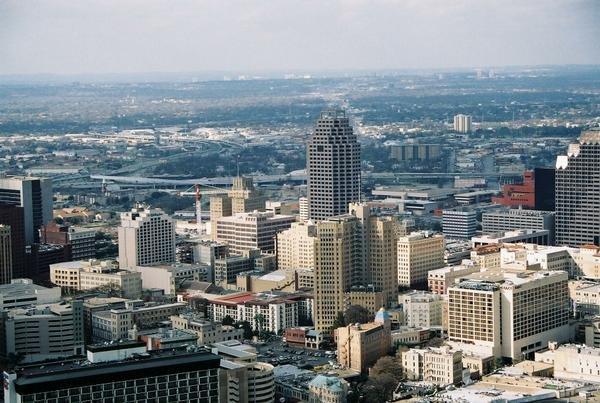 San Antonio Tx Downtown Sky View Photo Picture Image