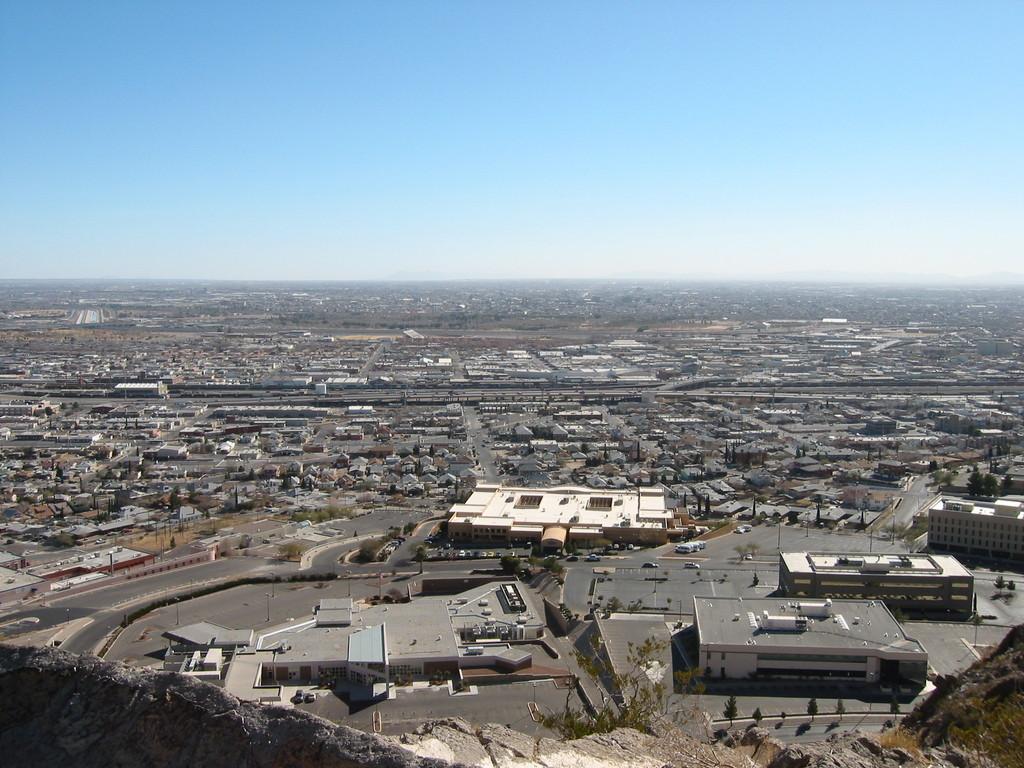 El Paso TX A Birds Eye View Of US Border At El Paso