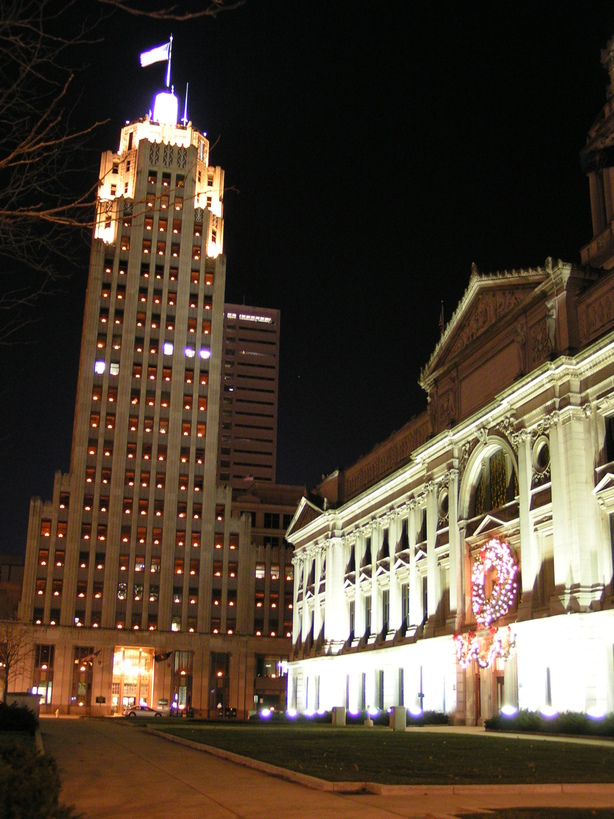 Fort Wayne IN Downtown Lincoln Tower Amp Courthose At