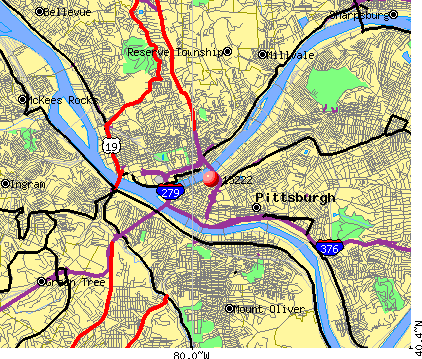 Pittsburgh Pa 15222 Map Nearest Zip Codes