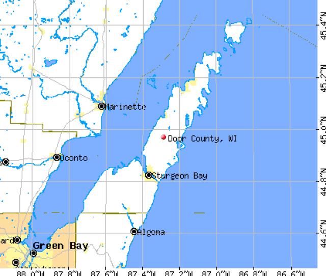 Door County Wi Map