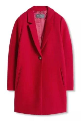 Esprit / Cappotto stile blazer in misto lana italiana