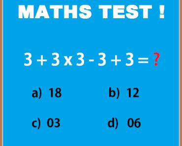 Maths test - Solve the problem
